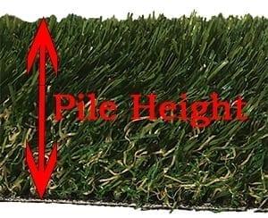 Height of Artificial Grass