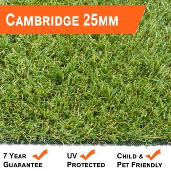 Artificial Grass 25mm Cambridge Range